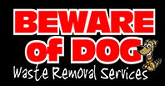 Beware Of Dog Waste Removal Services, Logo